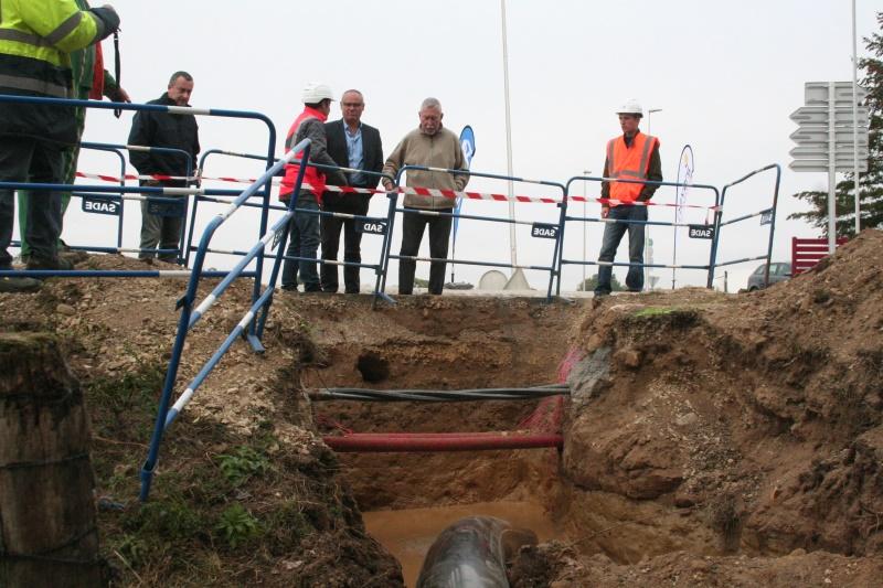 Forage chirurgical pour une conduite d'eau potable