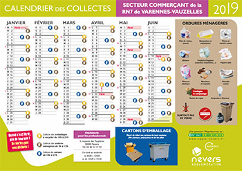 Calendriers 2019 Nevers Agglomeration